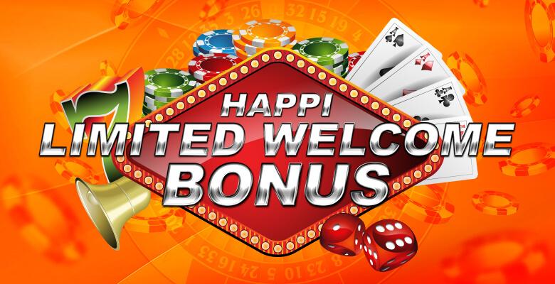 Happi Limited Welcome Bonus