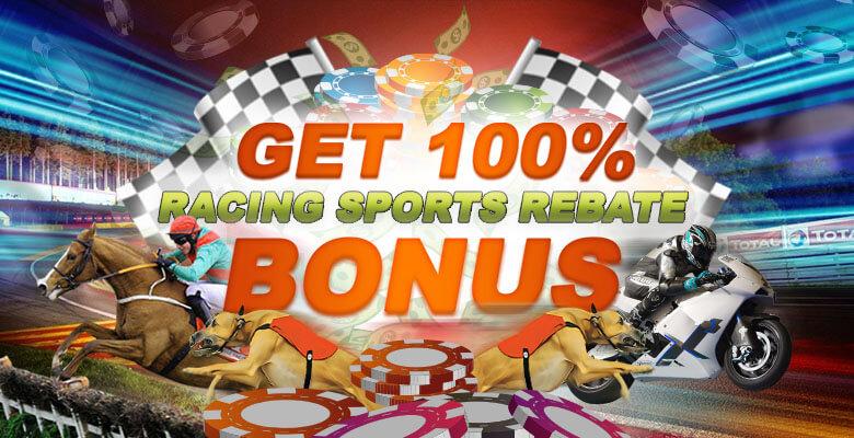HappiStar Racing Sports Rebate 100% Bonus