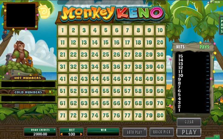 Monkey Keno Screenshot #1