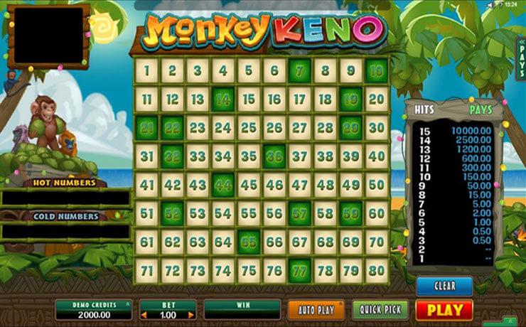 Monkey Keno Screenshot #2
