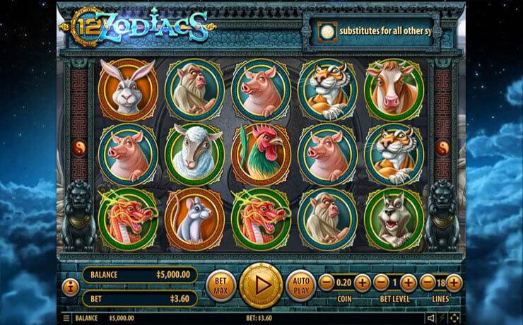 12 Zodiacs Slot Screenshot #1