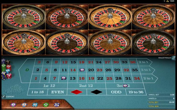 Multi-Wheel Roulette Gold Screenshot #2