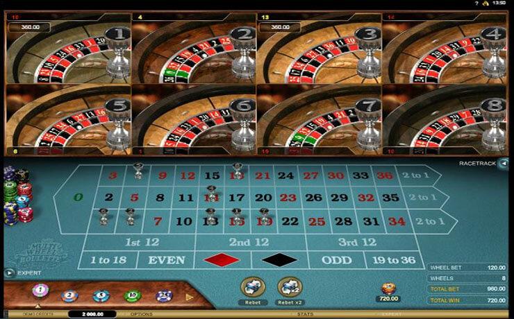 Multi-Wheel Roulette Gold Screenshot #1