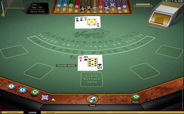 Vegas Strip Blackjack Gold Screenshot #2