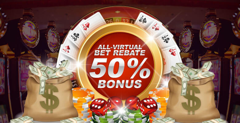 HappiStar All-Virtual Bet Rebate 50% Bonus