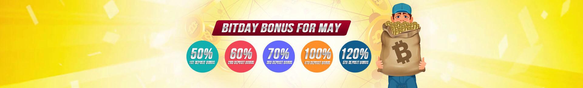 May BitDay Bonus
