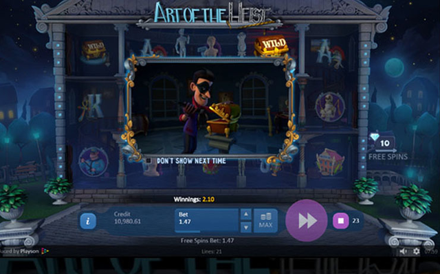 Art of the Heist Slot Screenshot #2