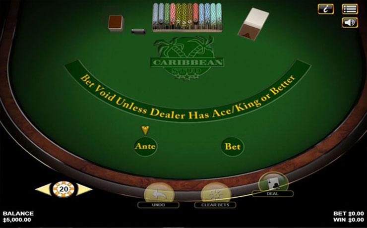 Caribbean Stud Poker Screenshot #1