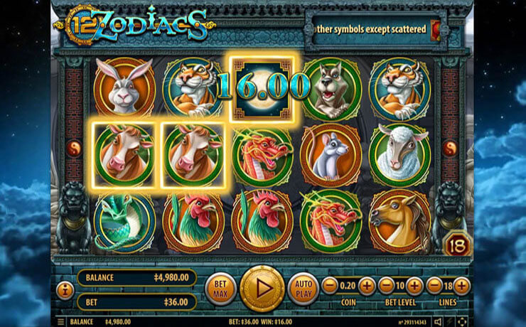 12 Zodiacs Slot Screenshot #2